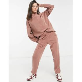 Y.A.S co-ord sweatshirt with balloon sleeves in camel-Brown  Brown
