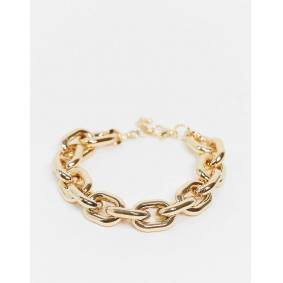 ASOS DESIGN anklet in statement hardware chain in gold tone  Gold