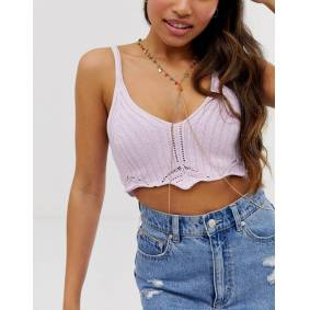 ASOS DESIGN body chain with multicolour disc charms in gold tone  Gold
