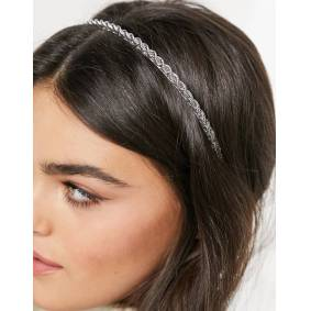 ASOS DESIGN headband with rope chain in silver tone  Silver
