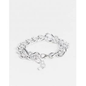 Ego chunky chain anklet in silver  Silver