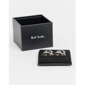 Paul Smith stripe mini cufflinks in silver  Silver