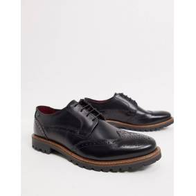 Base London grundy lace up shoes in black leather  Black