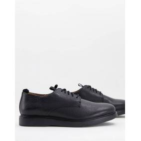 H By Hudson barnstable lace up shoes in black leather  Black