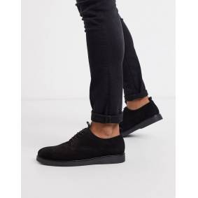 H By Hudson barnstable lace up shoes in black suede  Black