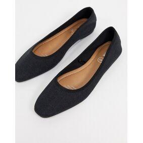 Rubi carina square toe ballet flats in black  Black