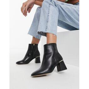 Ted Baker Squarel block heel ankle boots in black  Black