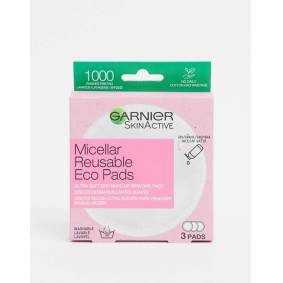 Garnier Reusable Make-up Remover Eco Pads (3 Large Microfibre Pads)-Clear  Clear