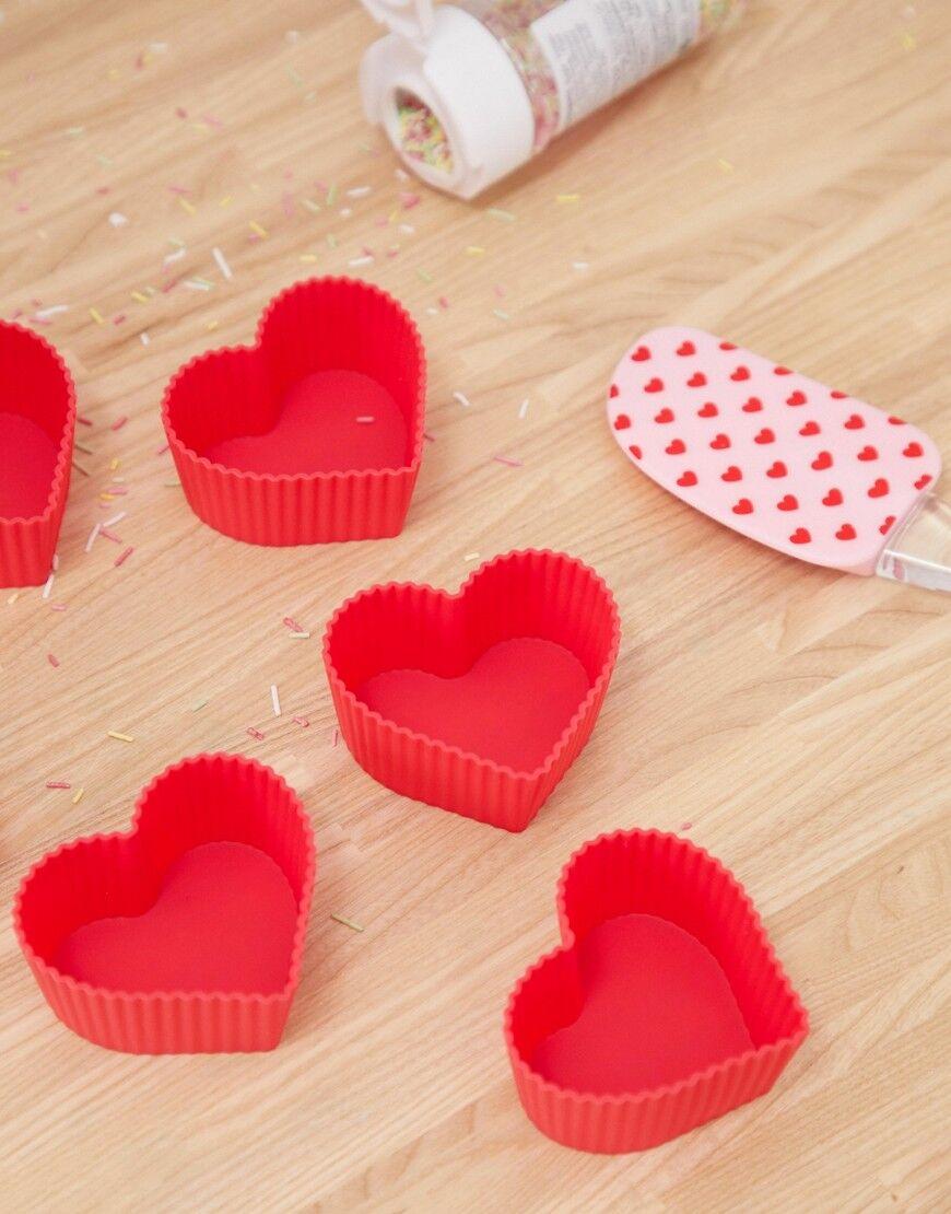 Mimo silicone heart baking set - Multi