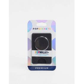 Popsockets Popsocket pop wallet phone stand pebbled leather look in black-No Colour  No Colour