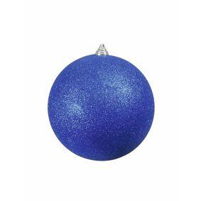 Europalms Julekule 20cm, Blå, Glitter