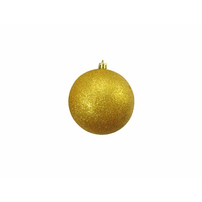 Europalms Julekule 10cm, Gull, glitter 4x