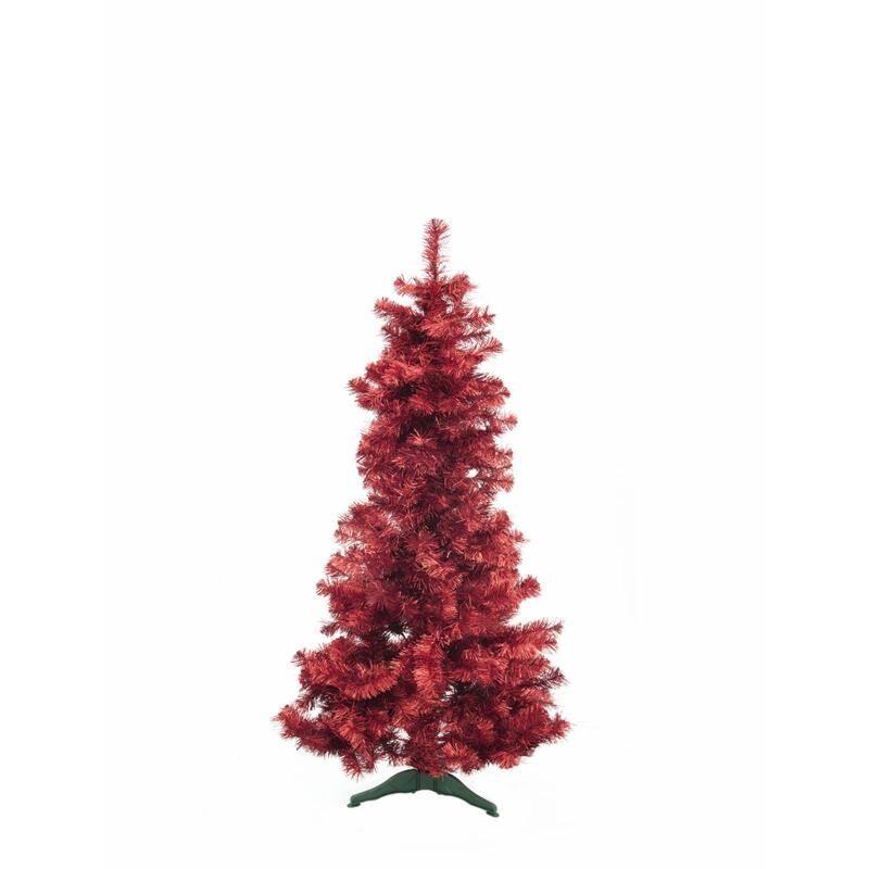 Europalms Juletre Futura Rød Metallic, 180cm