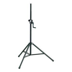 K&M 21300 høyttalerstativ m/sveiv, stål, vekt opptil 50 kg.