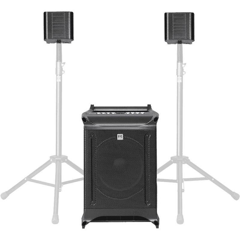 "HK Audio Lucas Nano 605 FX PA 10"" sub, 2 topper,mixer,fx,bluetooth"