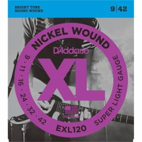 D'Addario Exl120 El. Gitar Strenger (009-042)