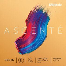 D'Addario A311 3/4m Violin String Ascenté Student Synth E-Tinned Hcs 15.7