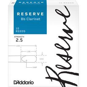 D'Addario Woodwinds D'Addario Dcr1025 Klarinett Flis Reserve Bb Clarinet 2.5 10 Pack