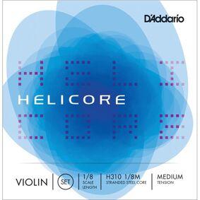 D'Addario H310 1/8m Violin Strings Helicore Set Coiled 1/8 Medium Tension