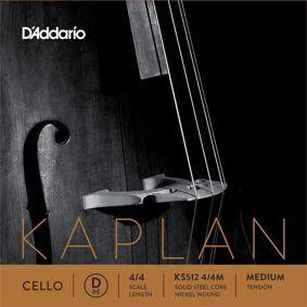 D'Addario Ks512 4/4m Cello Streng Kaplan D-Solid Steel/nickel 4/4 31