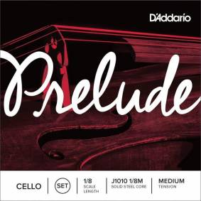 D'Addario J1010 1/8m Cello Strings Prelude Set 1/8 Medium Tension
