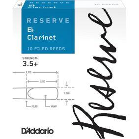 D'Addario Woodwinds D'Addario Dbr10355 Klarinett Flis Reserve Eb Clarinet 3.5+ 10 Pack