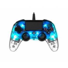 Nacon Wired llluminated Compact Kontroller Blå (PS4/PC)