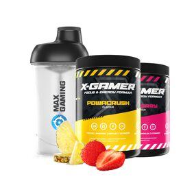 X-Gamer 2 x 600g X-Tubz Bundle Powacrush/Zomberry - 60 Porsjoner + Shaker