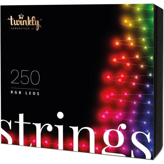 Twinkly Lyslenke RGB, svart, 250 lyskilder 20m - 94280