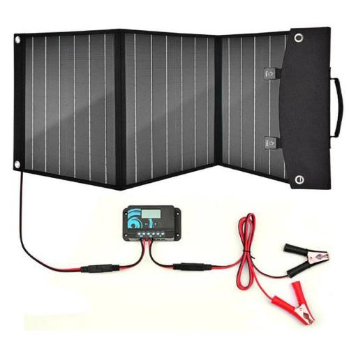 Powermaxx Solcellepanel Sammenleggbart 12v 50w