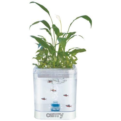 Camry Akvarium Med Led Lys Og Plantekasse