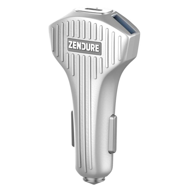 Zendure 3-Port Car Charger with PD & QC 3.0 Grå