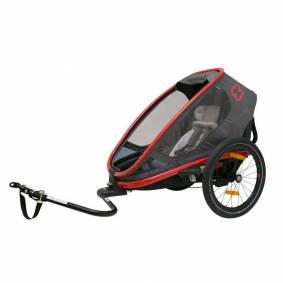 Hamax Outback One Seat incl. Bicycle Arm Rød