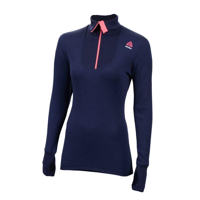 Aclima Doublewool Polo Shirt Zip, Woman Blå