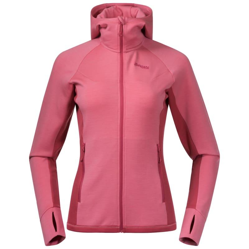 Bergans Cecilie Wool Hood Jacket Women's Rosa
