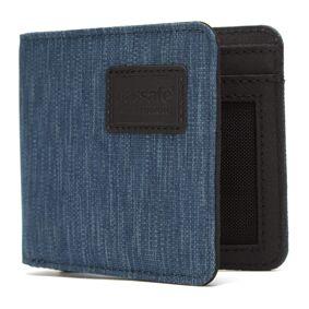 Pacsafe Rfidsafe Bifold Wallet Blå