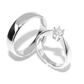 Gifteringer SuperDeal med diamanter 0.30 carat tw.si GIA