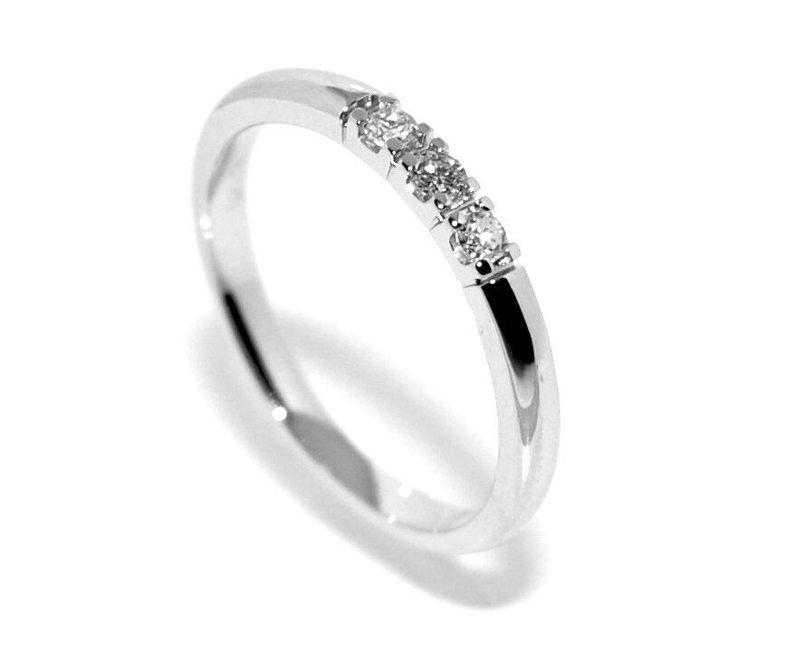 Superdeal! Alliansering med diamanter 0.09 carat w.si (585)