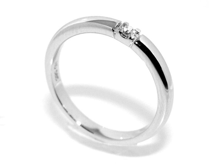 Superdeal! Alliansering med diamanter 0.05 carat w.si (585)