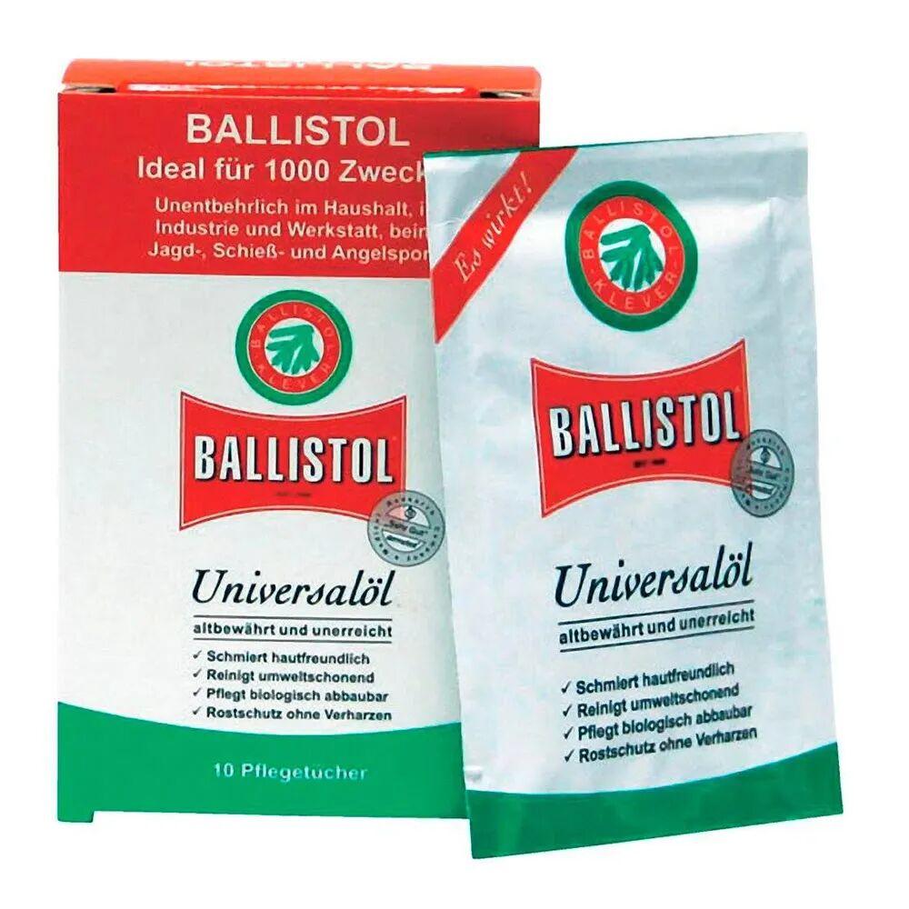 Ballistol Universal våpenolje - Serviett 10-pk