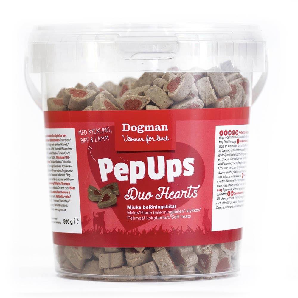 Dogman Pep Ups Duo Harts snacks - 500 gram