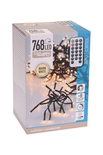 Christmas Lights LED-mikroklynge julelys (768 lyspærer)