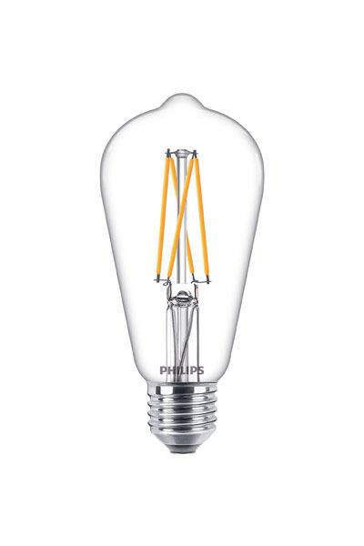E27 Philips E27 LED-lyspærer 9W (60W) (Klart, Kan dimmes)