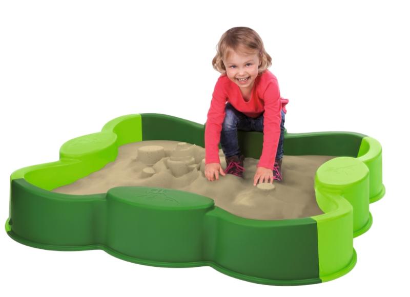 BIG Sandkasse med overtrekk, grønn (121-800056722)