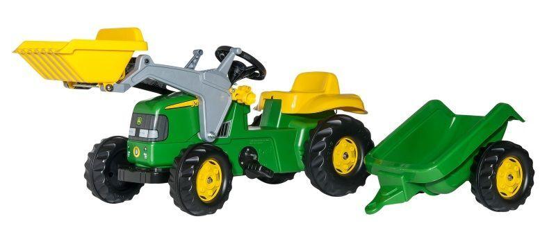 Rolly John Deere rollyKid traktor+tilhenger+frontlaster (331-023110)