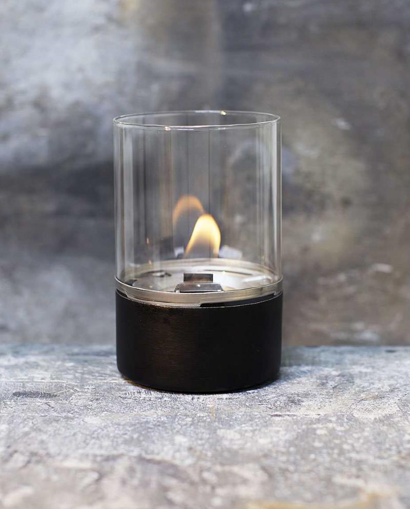 Tenderflame Glasslampe Tower 10cm Sort (513-100304)