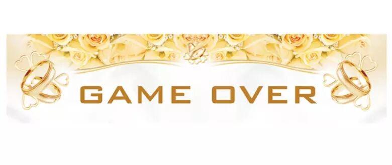 "PartyDeco Bilskilt Bryllup ""Game Over"" (342-TT65)"