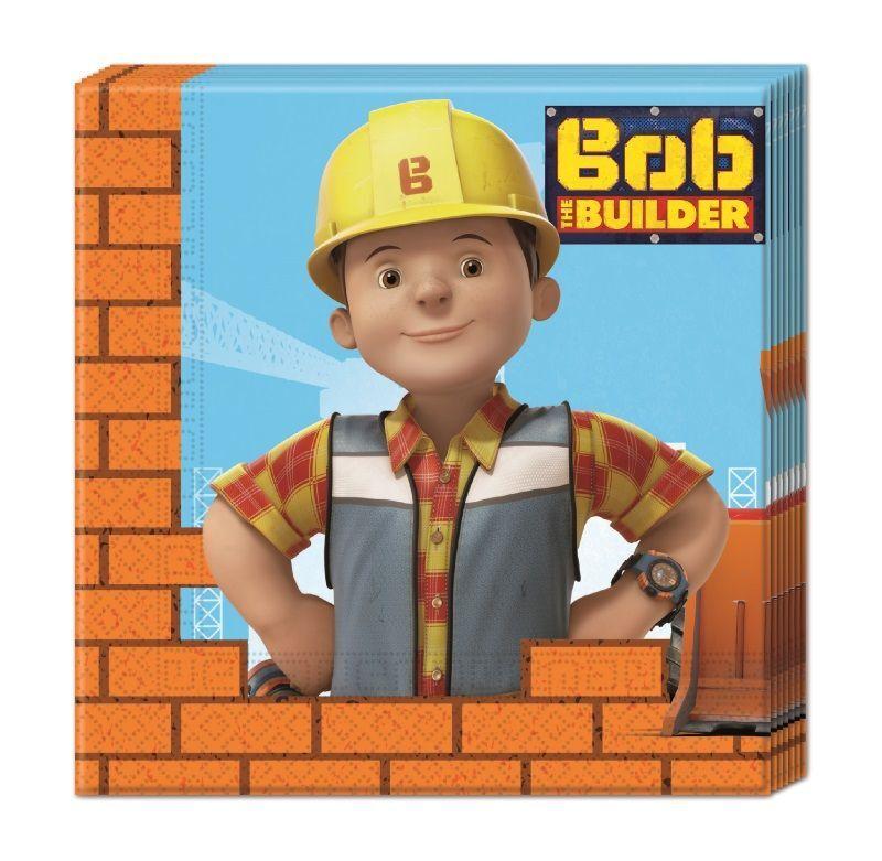 Byggmester Bob Servietter - 20 stk (126-88048)