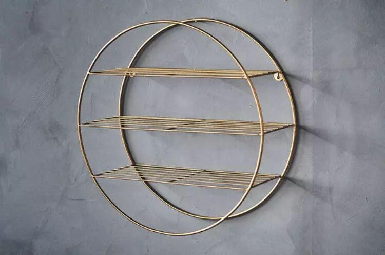 Trend Design Vegghylle Rund Gull, Ø50cm (298-440806)