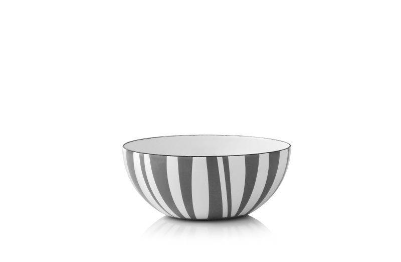 Cathrineholm Stripes Bolle Grå 14cm (549-100390322)